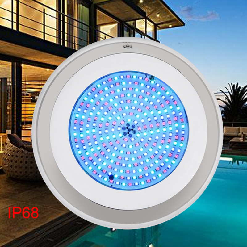 BORUiT 18W RGB Colorful LED Swimming Pool Light 252 LEDs Underwater Lighting Landscape Fountain Light for Square Pool Lamp 12V underwater lights rgb led swimming pool light 24v ip68 waterproof 27w 316 stainless steel colorful changeable fountain lamp