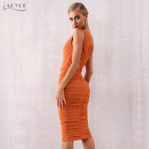 Image 5 - Adyce vestido Bandage de noche caqui sin mangas, vestido de noche sexi con un hombro al descubierto para mujer de verano 2020