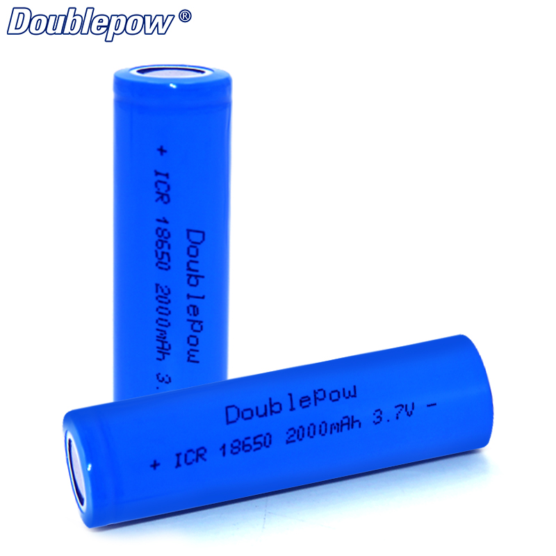 4pcs/Lot FREE SHIPPING Hot Sale Doublepow DP-18650 2000 mA 3.7V Li-ion rechargeable battery 18650 HIGH CAPACITY FOR FLASHLIGHT
