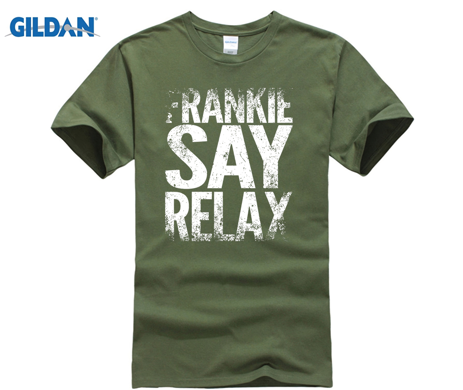 GILDAN Frankie Say Relax Vintage Hollywood 80s Music Funny T-Shirt Size S-XXXL summer T-shirt image