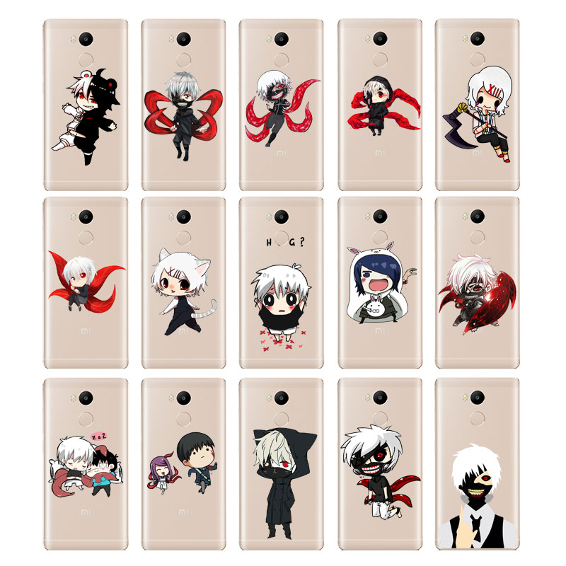 DREAMFOX M159 Anime Tokyo Ghouls Soft TPU Silicone Case Cover For Xiaomi Redmi Note 3 4 4X 5 5A 6 7 Pro Global in Fitted Cases from Cellphones Telecommunications