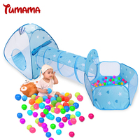 TUMAMA Foldable Toy Tents For Kids Play Baby Tent House And Children Toy Ball Pool Ocean