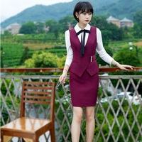 Fashion OL Styles Formal Blazers Skirt Suits With Vest And Skirt For Ladies Women Business Blazer Uniforms Outfits Plus Size