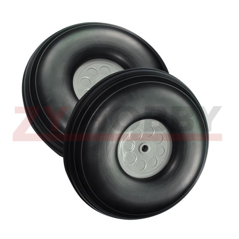 1Pair 4 5inch 114 3mm RC Airplane PU wheel Plastic Hub D114 3xH41xD5mm