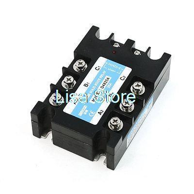 Relais à semi-conducteurs en plastique noir à 3 phases