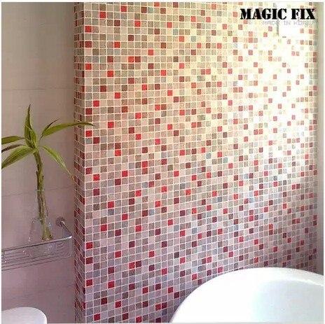 Mosaic Tiles Wallpaper Paste Stickers Kitchen Bathroom Toilet Waterproof  Self Adhesive Pvc Wallpaper Free Shipping