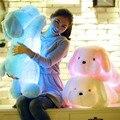 50 СМ Длина Творческий Вечер Свет ПРИВЕЛ Прекрасная Собака Чучела и Плюшевые Игрушки Лучшие Подарки для Детей и Друзей