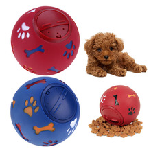 1pcs Pet Food Dispenser Dog Leakage Ball For Puppy Cat Treat Trainning Chew Sound Squeaky Interactive Supplies
