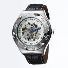GOER бренд Мужской спортивные часы Рим цифровой Моды водонепроницаемой кожи Световой Скелет мужские механические автоматические наручные часы