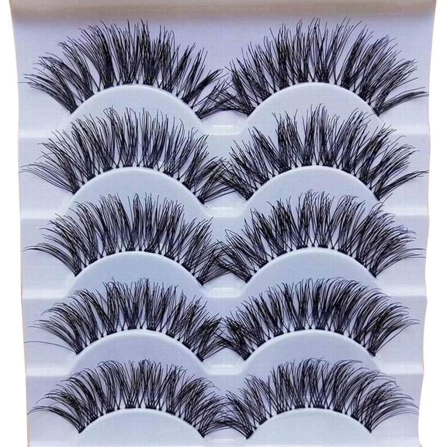 Handmade 5 Pairs Natural Long False Eyelashes Extension Exquisite Gracious Women Makeup Daily Party 2U0111