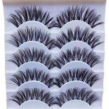 Handmade 5 Pairs Natural Long False Eyelashes Extension Exquisite Gracious women Makeup Daily Party 2U0111(China)