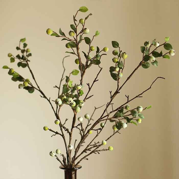 Big Wild fruit Simulation Botany High branches tree Branch Berry Feel Glue FLOWER Garland artificial green leaves