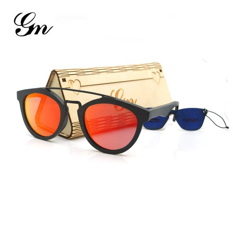 2018 г М Древесины Бамбука Солнцезащитные очки Модные женские солнцезащитные очки, большие рамки дизайнерские солнцезащитные очки