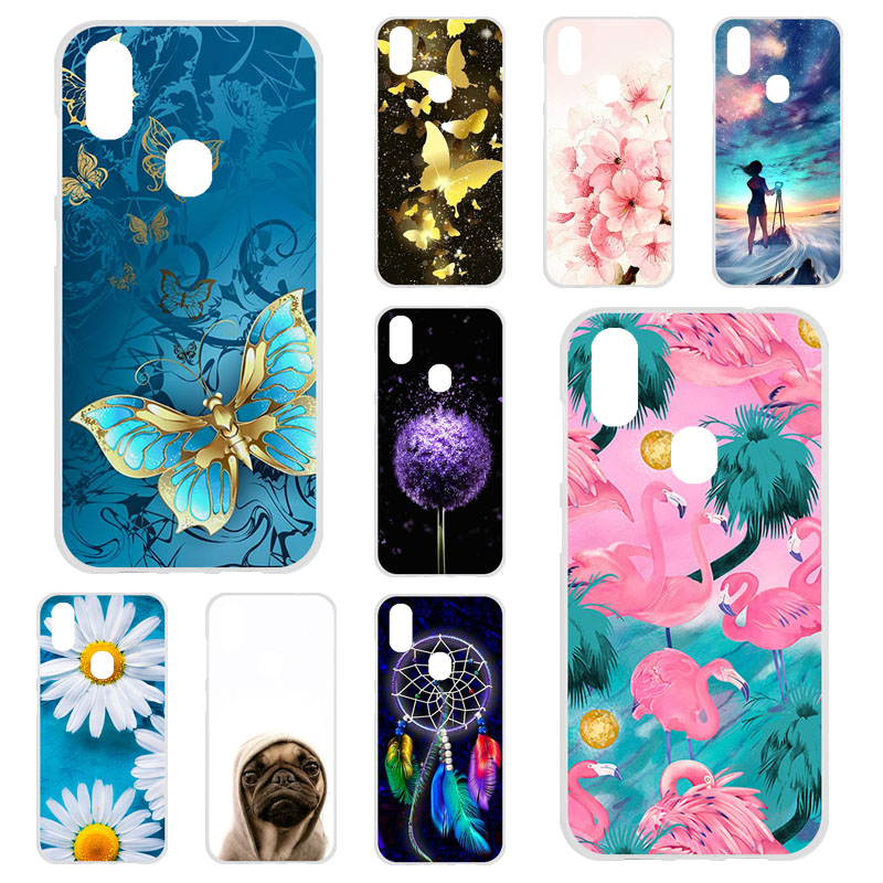 TPU Phone Cases For <font><b>Oukitel</b></font> <font><b>C15</b></font> <font><b>Pro</b></font> Case Silicone Floral Painted Bumper For <font><b>Oukitel</b></font> <font><b>C15</b></font> <font><b>pro</b></font> 6.09 inch <font><b>Cover</b></font> Soft TPU Back Fundas image