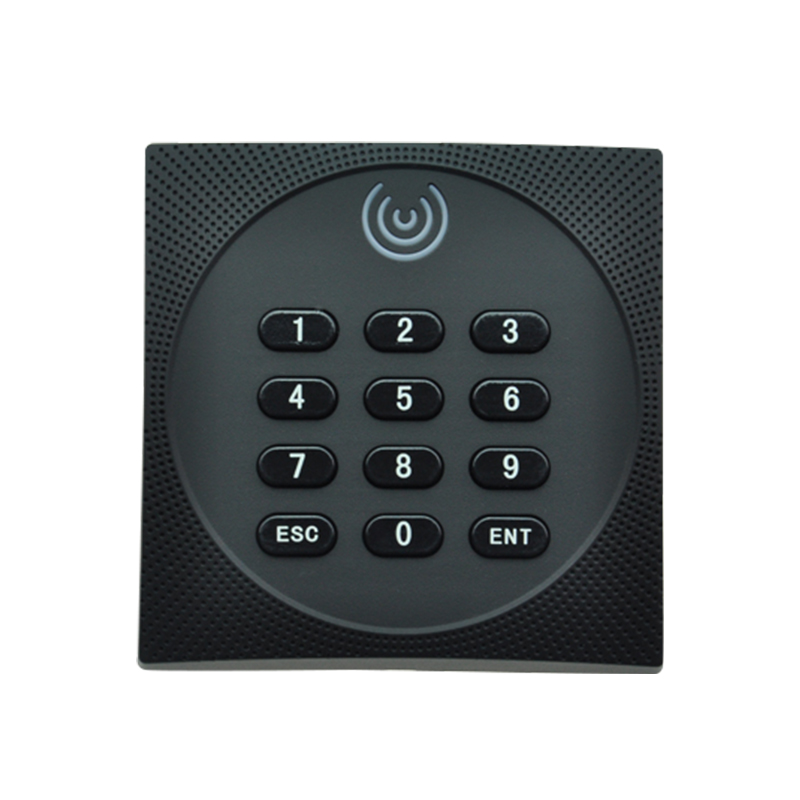 Keypad design access control card reader 13.56Mhz MF IC RFID reader with Wg 26 output waterproof touch keypad card reader for rfid access control system card reader with wg26 for home security f1688a