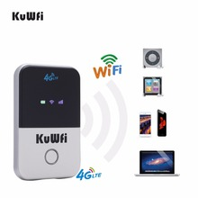 US Shipping Pocket 4G LTE Wifi Router 3G USB Modem With SIM Card 100Mbps Mobile Hotspot Car for Travel 2000mAH Battery