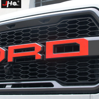 JHO Tail Hood Engine Grille Red Letters Sticker Graphics Vinyl Decal for Ford F150 Raptor 2016 2018 17 Truck Styling Accessories