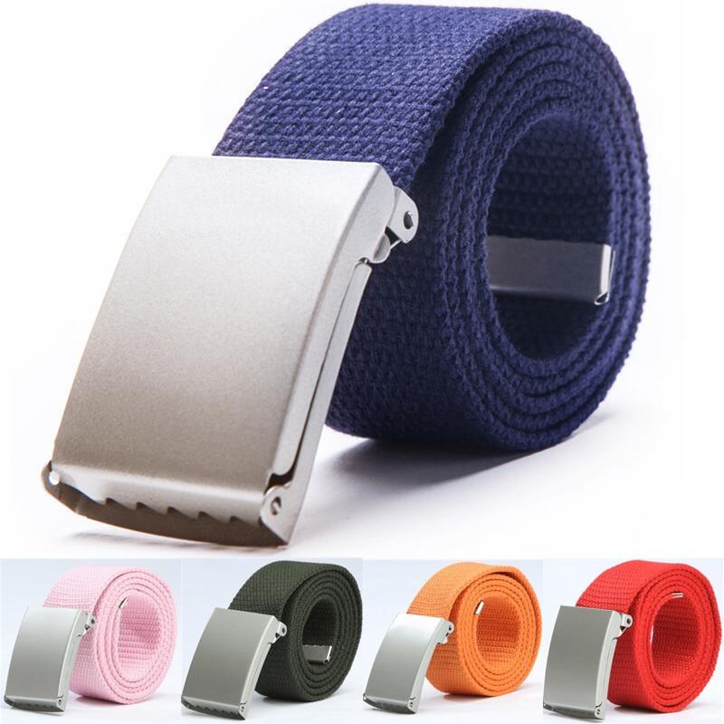 Mens Belts Fashion New Unisex Trousers Belts Canvas Belt Breathable Outdoor Tactical For Jeans Adjustable Waist Belt  140cm