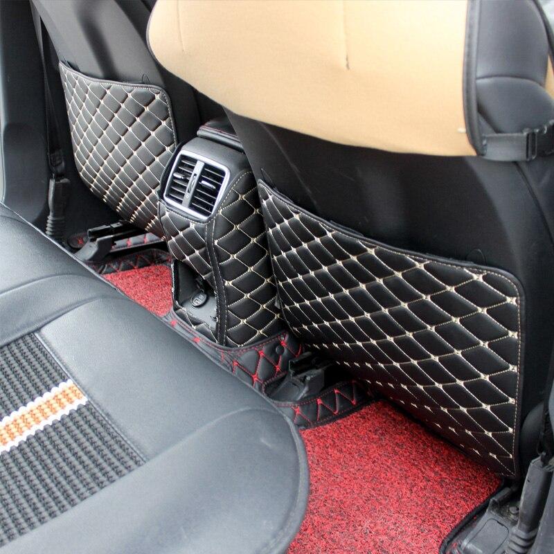 Car Armrests Covers Kick Pad Rear Seat Mat Protection Cushion Anti-Kick Pad Interior For <font><b>Kia</b></font> Sportage QL 2016 2017 Accessories
