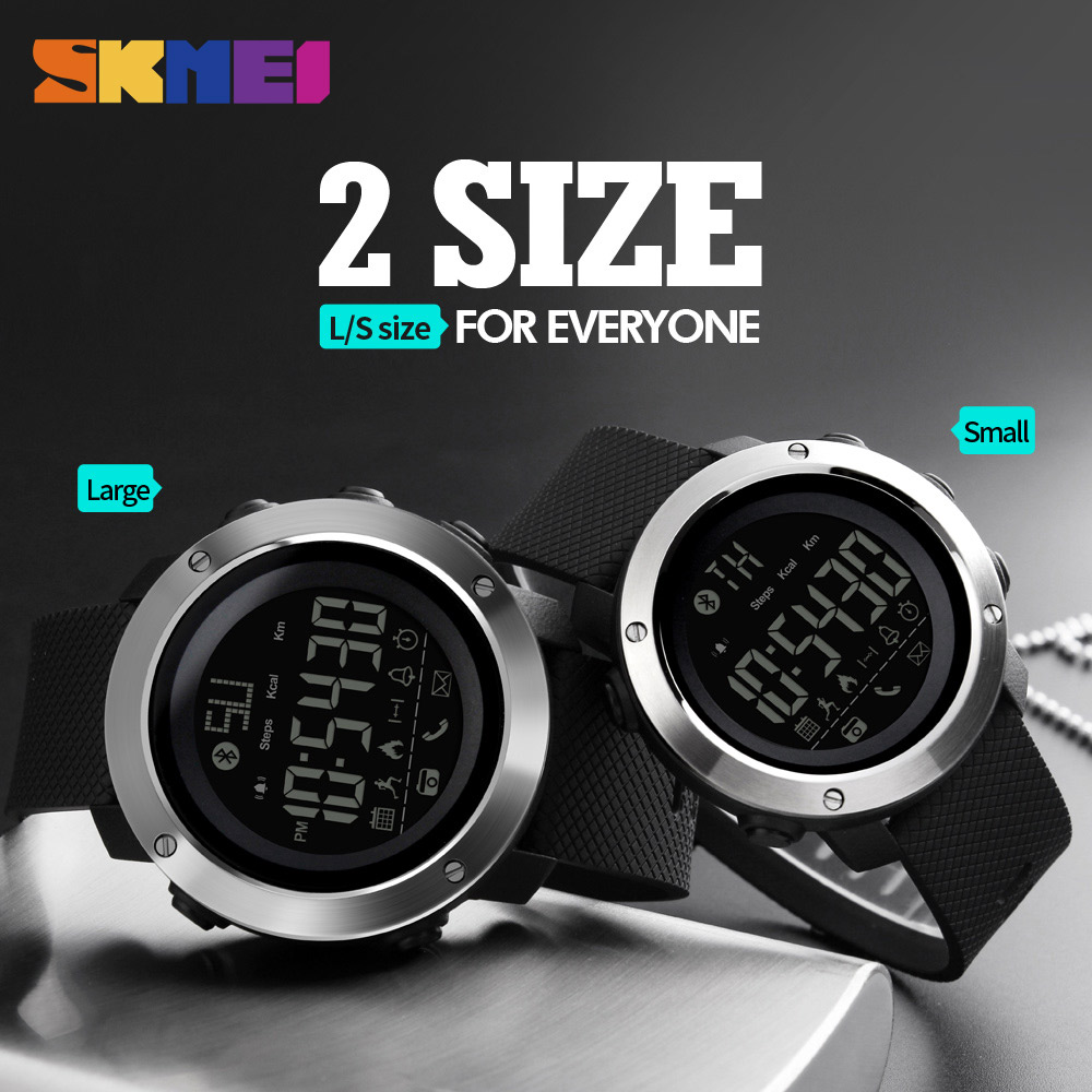 SKMEI Fashion Mens Watches Sports Calorie Call Reminder Bluetooth Remote Camera Waterproof Wristband Sport Wristwatch Zegarki