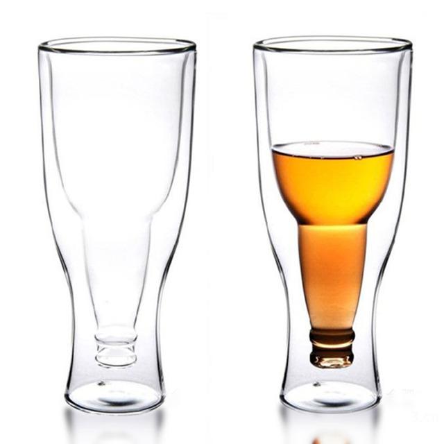 Upside Down Beer Bottle Shaped Beer Mug