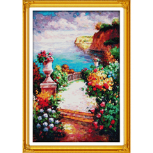 Everlasting love The beach path among the flowers Chinese cross stitch kits  Ecological cotton stamped 11 CT New sales promotion