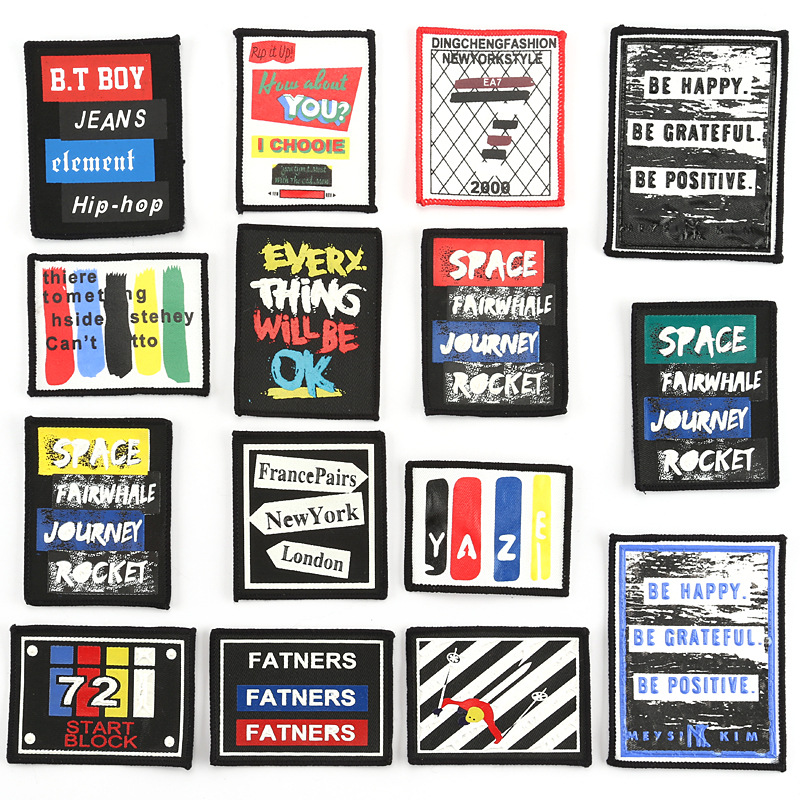 2019 New Fashion DIY Applique Embroidery Costume Decoration Decals Accessories Badge Punk Rock