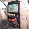 Hot Criança Carro Ipad Pendurado Transparente Saco Do Presente Sacos De Malha Elástica Acessórios De Armazenamento De Brinquedos Saco de Carro de Volta Organizador Do Assento Portátil