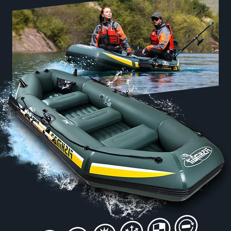 Fishman Super inflatable 4 preson boat fishing boat 328*144*46CM 137cm aluminium oar hand pump carry bag repair kit A07002