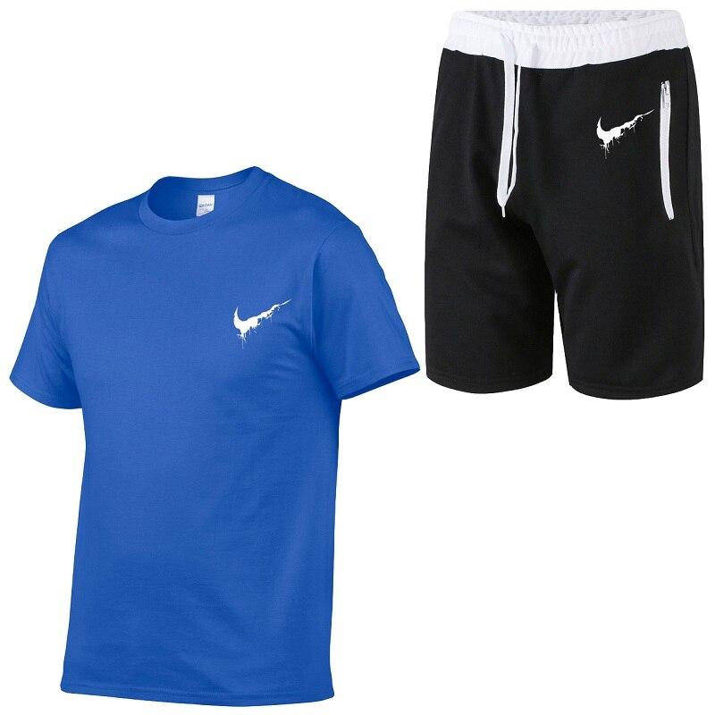 2019 new solid color T-shirt men's black and white cotton T-shirt summer skateboard T-shirt boy skateboard T-shirt top