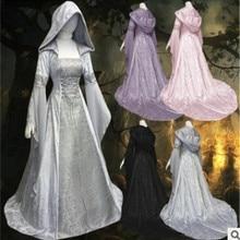 New Women Vintage Medieval Pagan Wedding Hooded Dress Romantic Fantasy Gown  Floor Length Renaissance Dress Cosplay 467702a45