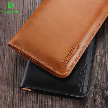 FLOVEME Universal Genuine Leather Wallet Case For iPhone X 8 7 6 6S Plus For Samsung Galaxy Note 8 S8 S9 Plus S7 S6 Pouch Cases 4