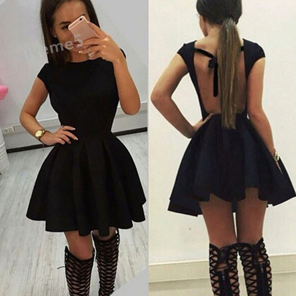 HTB1dgoGNXXXXXaXXVXXq6xXFXXX0 - FREE SHIPPING Women Backless Summer dress Bandaged Mini Dress JKP253