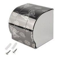 Современные черная бабочка Бумага для рисования держатели поверхности Ванная комната туалетной Бумага держатель Бумага настенная коробка...