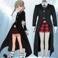 Hot Costumi Anime Cosplay SOUL EATER Maka Albarn Uniformi Donne Del Partito Fancy Dress Set per Halloween