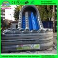 2016 más popular profesional proveedor tobogán inflable gigante, gigante tobogán inflable, diapositiva de salto inflable
