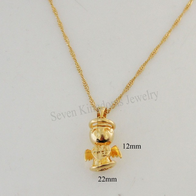 Min order 10 yellow gold overlay filled brass 18 necklace baby min order 10 yellow gold overlay filled brass 18 necklace baby aloadofball Images