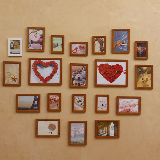 20 marco de la pared de madera foto creativa pared de la foto ...