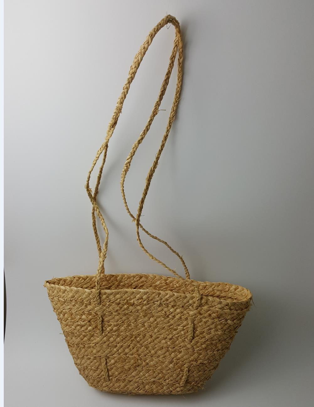 34*21cm Natural RAFFIA grass Countryside rural style very light and simple design Straw bag  Beach  Travel Vacation bag A2951~1