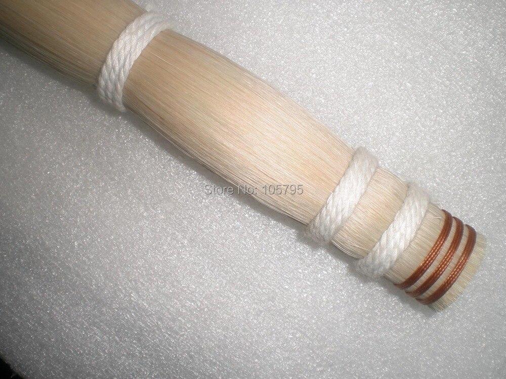 500 grammes meilleure qualité blanc arc cheveux 77-78 CM violoncelle arc cheveux basse arc cheveux cheval queue cheveux