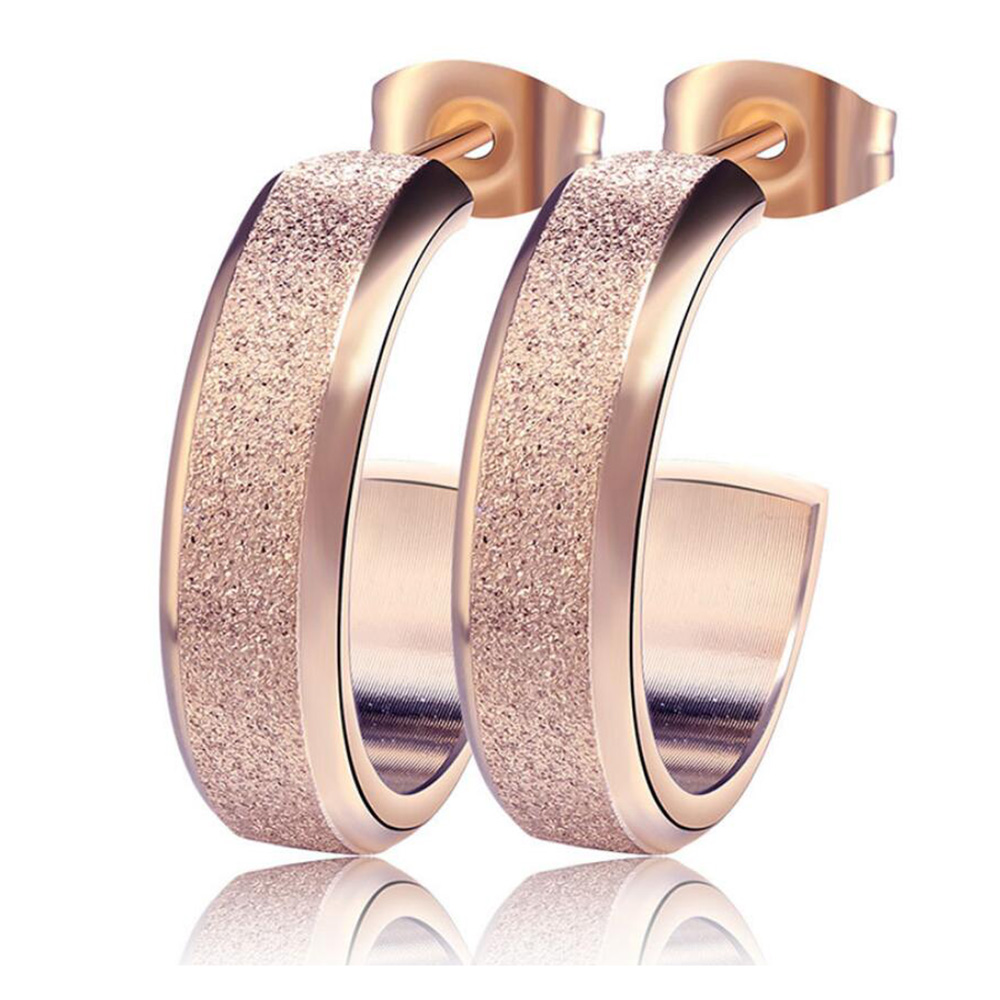 Silver Color&Gold Color&Rose Gold Color Big Earrings Studs Fashion ...