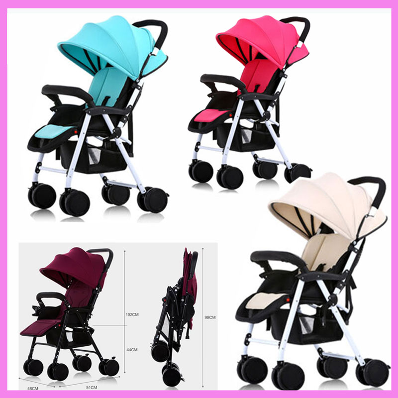 Portable Folding Lightweight Baby Infant Stroller Travel System Swivel Wheels Flat Lie Baby Umbrella Pram Pushchair Buggy 0~36M super lightweight folding baby stroller child pushchair umbrella portable travel baby carriage baby pram poussette kinderwagen