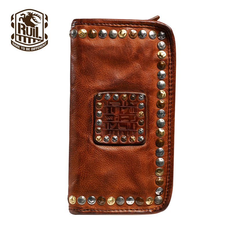 Ruil luxury wallet 100% first layer cowhide leather mens wallet Hand rubbing long walletRuil luxury wallet 100% first layer cowhide leather mens wallet Hand rubbing long wallet