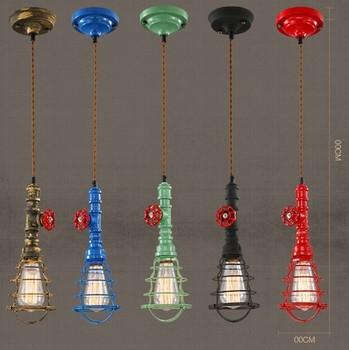Edison Loft Style Retro Water Pipe Pendant Light Fixtures Vintage Industrial Lighting Dining Room Bar Hanging Lamp Lampara