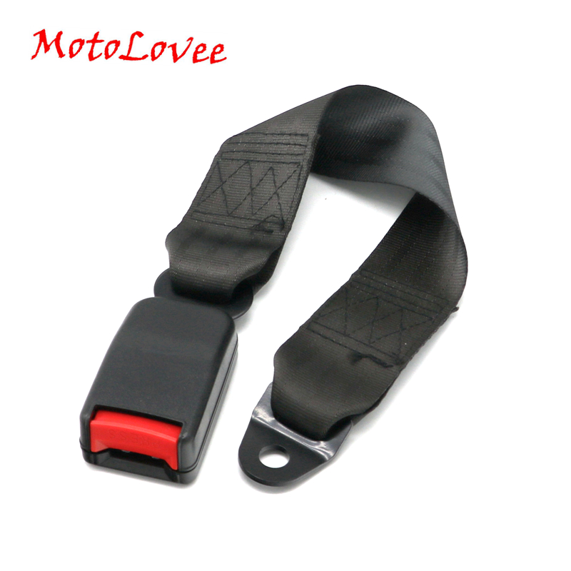 MotoLovee Universal Car Seat Belts Safety Belt Webbing Extender Auto Extension Buckle Seat Belts Extender