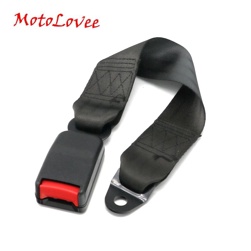 MotoLovee Universal Car Seat Belts Safety Belt Webbing Extender Auto Extension Buckle Seat Belts Extender