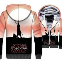 Star Wars Jacket 3D Print Hoodie Men Movie Hooded Sweatshirt 2018 Brand Winter Thick Fleece Warm Zip up Coat Hip Hop Streetwear недорого