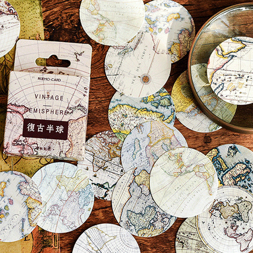 """/""""Renaissance/"""" 46pcs Pack Vintage Retro Scrapbooking Stickers DIY Decor Stickers"""