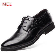Big Size 48 Mens Casual Genuine Leather Formal Shoes Men Oxford Office Dress Shoes Men Wedding Shoes Flats Chaussure Homme стоимость
