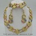 2017new itália 750 conjuntos de jóias de alta qualidade moda parure bijoux femme arican dubai brincos china colar choker
